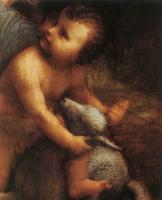 Леонардо да Винчи. Божья Матерь с младенцем (фрагмент)