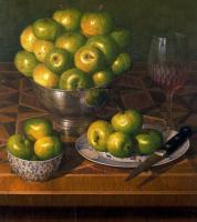 Стоун Робертс. Зеленые яблоки в тарелке