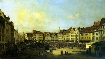 Bernardo Bellotto. Old market square in Dresden