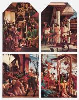 Альбрехт Альтдорфер. Христос перед Каиафой, Бичевание Христа, Несение креста, Распятие: Алтарь св. Себастьяна духовного училища августинских канонико