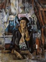 Александр Александрович Осмеркин. В кафе (портрет жены)