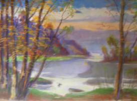 Yosif Josifovich Garani. River in the Carpathians