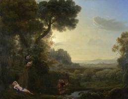 Клод. Пейзаж с Нарцисс и Эхо