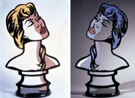 Roy Liechtenstein. Woman sunlight - moonlight