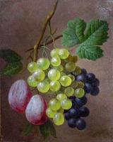 Георг Якоб Иоганн ван Ос. Натюрморт с виноградом и сливами