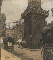 Мстислав Валерьянович Добужинский. Лондон. Монумент