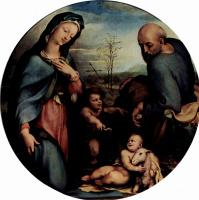 Доменико Беккафуми. Святое семейство с Иоанном Крестителем