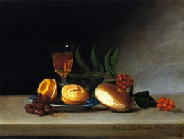 Raphaelle Peale. Still life with glass of wine