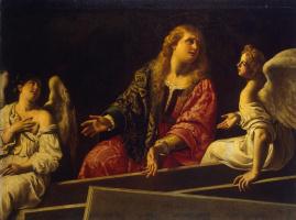 Антиведуто Грамматика. Мария Магдалина у гроба воскресшего Христа
