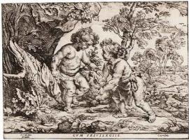 Питер Пауль Рубенс. Младенцы Иисус и Иоанн Креститель, играющие с ягненком