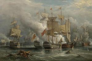 Ричард Бриджес Бичи. Битва у мыса Сент-Винсент 14 февраля 1797 года