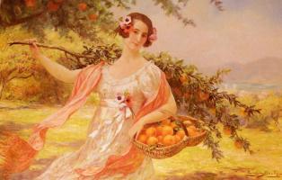 Эжен Огюст Франсуа Дюлли. Женщина рвущая апельсины