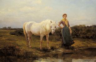 Хейвуд Харди. Лошадь у воды