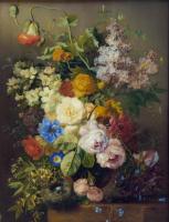 Георг Якоб Иоганн ван Ос. Цветочный натюрморт с птичьим гнезом