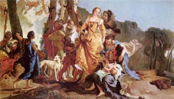 Джованни Доменико Тьеполо. Нахождение младенца Моисея