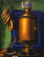 Василий Иванович Шухаев. Бублики и чай. 1960-е   Из серии «Самовар»