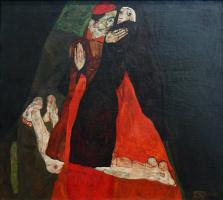 Egon Schiele. Cardinal and nun