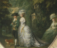 Томас Гейнсборо. Генри, герцог Камберленд с герцогиней Камберленд, и леди Элизабет Латтрелл. Фрагмент
