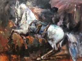 Савелий Камский. Конь. Встав на дыбы