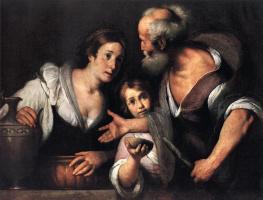 Бернардо Строцци. Пророк Илия и вдова Сарепта