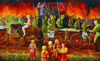Vasily Ivanovich Ptyukhin. Civil War