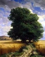 Александр Калам. Пейзаж с дубами