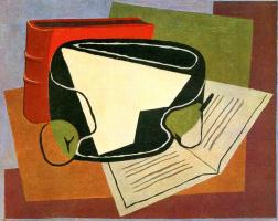Хуан Грис. Книга и фруктовая тарелка