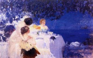 Павел Дмитриевич Шмаров Россия - Франция 18741950. На балконе. 1910-е