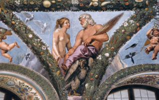 Рафаэль Санти. Венера и Юпитер. Фреска лоджии Психеи виллы Фарнезина, Рим