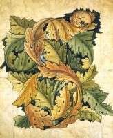 Уильям Моррис. Переплетенные листья. Эскиз
