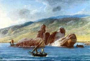Жан-Пьер-Лоран Уэль. Скалы возле берега в бухте Ла Трицца