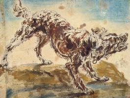 Ian Faith. Study of a dog