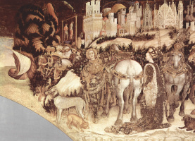 Antonio Pisanello. Frescoes from the Church of Sant' Anastasia in Verona. SV. George and the Princess