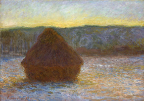 Claude Monet. Haystack (Thaw, Sunset)