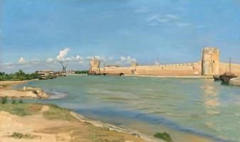 Фредерик Базиль. Крепостной вал в Эгес-Морте