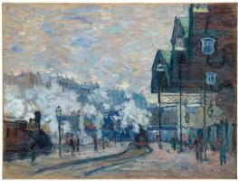 Клод Моне. Вокзал Сен-Лазар. Вид снаружи