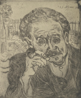 Vincent van Gogh. Man with pipe (Portrait of Dr. Gachet)