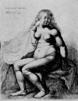 Венцель Холлар. Сидящая обнаженная