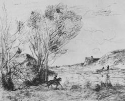 Камиль Коро. Всадник в камышах