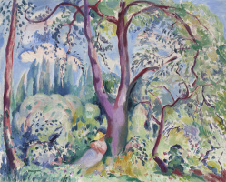 Henri Manguin. Landscape in Colombier. Sketch