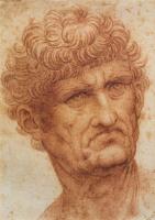 Леонардо да Винчи. Голова мужчины