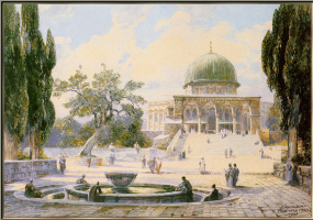 Генри Франк. Вид на Храмовой горе Иерусалима