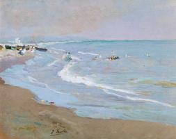 Joaquin Sorolla. The beach in Valencia