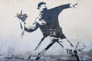Banksy. Rage (Flower Finder)