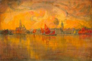 Шарль Котте. Вид Венеции с моря