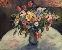 Отон Фриез. Тюльпаны и маргаритки