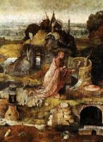 Иероним Босх. Святой Иероним. Центральная часть триптиха Святые Отшельники