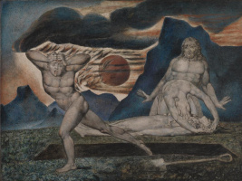 William Blake. Adam and eve find the body of Abel