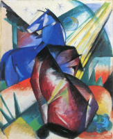 Франц Марк. Красная и синяя лошади