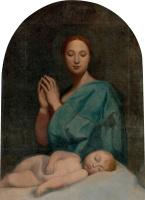 Жан Огюст Доминик Энгр. Мадонна и спящий младенец Иисус